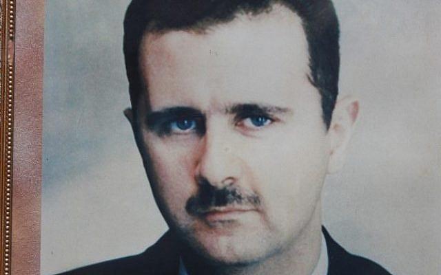 A picture of Bashar Assad (photo credit: Yossi Zamir/Flash90)