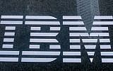 The IBM logo on the company's building in New York (Photo credit: Serge Attal/Flash 90)