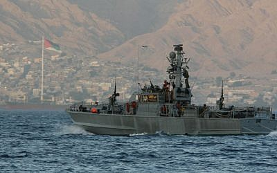 An Israeli warship in the Red Sea. Walla News reported that the targeted vessel in the Iranian plot was a warship. (photo credit: Anna Kaplan/Flash90)
