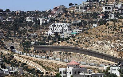 A road near Bethlehem in the West Bank (illustrative photo: Nati Shohat/Flash90)