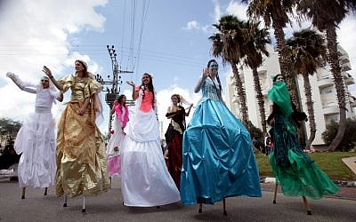 Purim parades and parties will be held across the country (photo credit: Edi Israel/Flash 90)