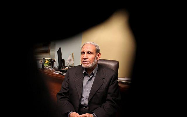 Senior Hamas official Mahmoud Al-Zahar (Wissam Nassar/Flash90)