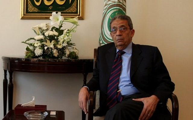 Amr Moussa, former secretary-general of the Arab League, pictured in Cairo in 2010. (photo credit: Wissam Nassar/ Flash90)