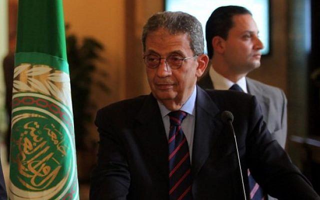 Amr Moussa (photo credit: Wissam Nassar/ FLASH90)