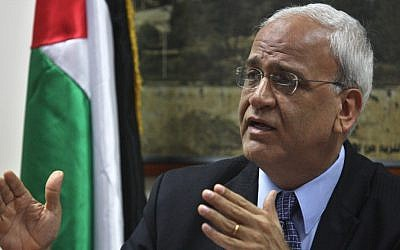 Saeb Erekat (photo credit: Issan Rimawi/Flash90)