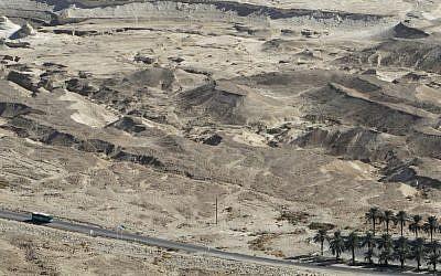 The Masada area, site of Thursday's quake (photo credit: Miriam Alster/Flash90)