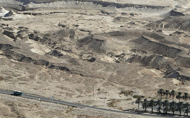 The Masada area, site of Thursday's quake (photo credit: Miriam Alster/Flash90)