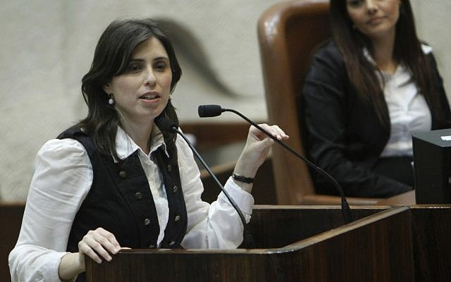 Deputy Foreign Minister Tzipi Hotovely addresses the Knesset, March 2011. (Miriam Alster/Flash90)