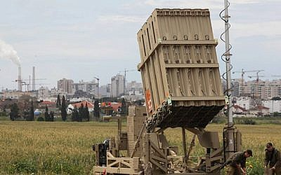 An Iron Dome rocket interception battery. (photo credit: Edi Israel/Flash90)