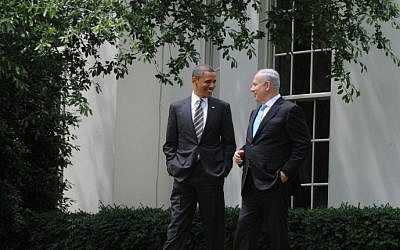 President Barack Obama and Prime Minister Benjamin Netanyahu at the White House in March 2012 (photo credit: Avi Ohayon/GPO/Flash90)
