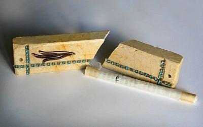 Illustrative photo of a broken mezuza (Chen Leopold/Flash90)