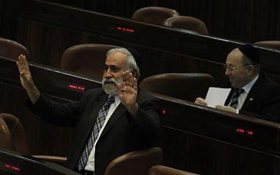 Shas MK Nissim Zeev (photo credit: Miriam Alster/Flash90)