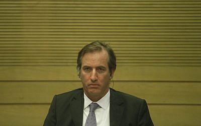 French Ambassador to Israel Christophe Bigot at the Knesset. (photo credit: Uri Lenz/Flash90)