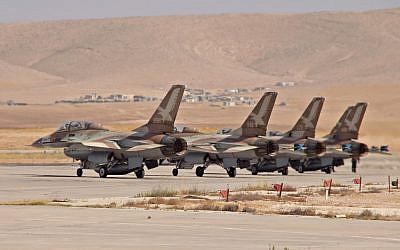 Israel Air Force F-16s, photographed last summer. (photo credit: Ofer Zidon/Flash90)