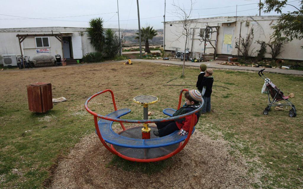 Children at play in Migron (photo credit: Kobi Gideon/Flash90)