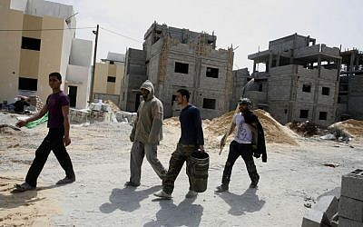 A new housing project in Rafah, funded by UNRWA (photo credit: Abed Rahim Khatib/Flash 90)