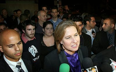 Tzipi Livni meets reporters after her defeat in last month's Kadima leadership race. (photo credit: Gideon Markowicz/Flash90)