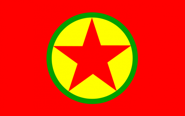 The PKK flag.