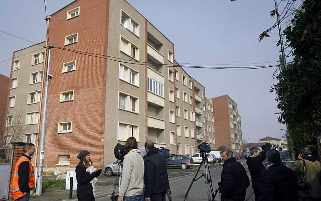 The building where French police shot and killed Mohamed Merah. (photo credit: AP/Remy de la Mauviniere)