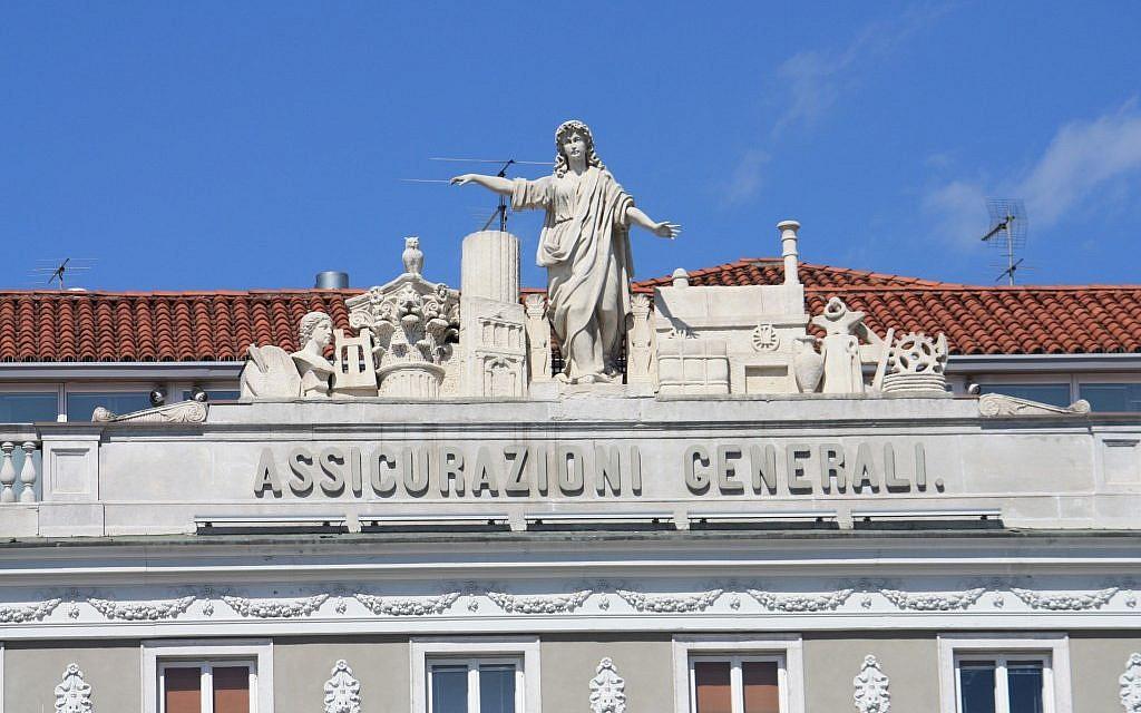 Front detail of Assicurazioni Generali, Piazza dell`Unitá, Trieste, Italy. (Photo credit: Johann Jaritz)