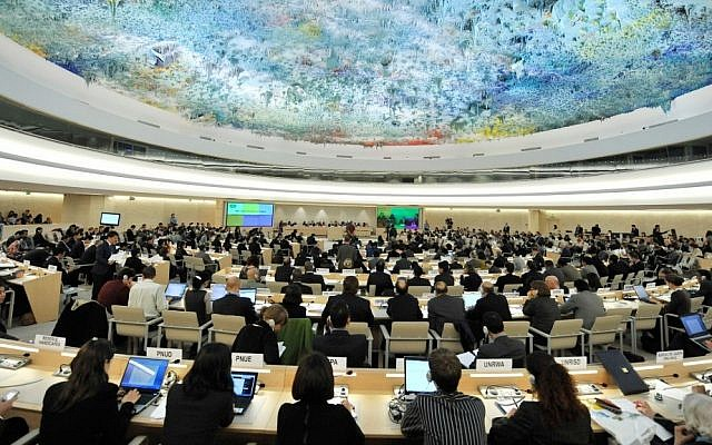 The Geneva-based UN Human Rights Council (CC BY-US Mission Geneva/Flickr/File)