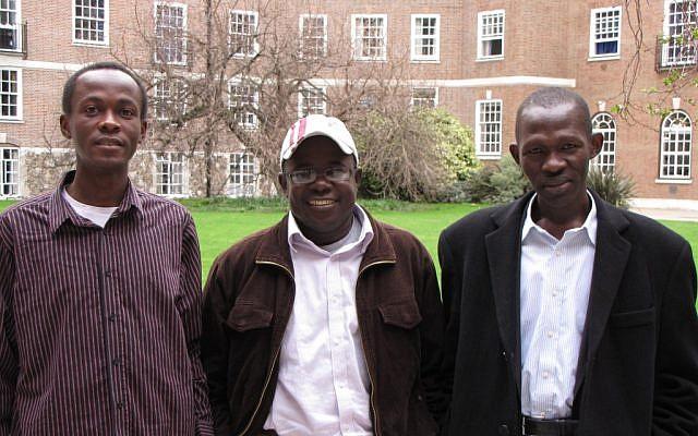 Left to right: Ashraf Gango, Yasir Hamouda, Sallam Tutu (photo credit: ToI photos/Elhanan Miller)