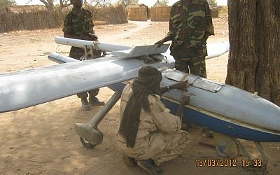 A government drone captured by Sudanese rebels was reportedly manufactured in Iran (photo credit: Courtesy)