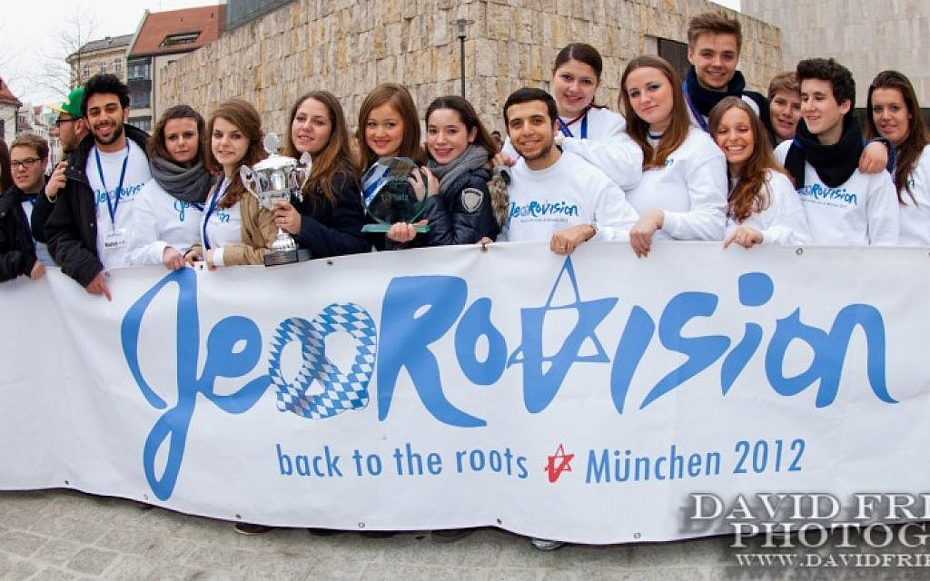 Jewrovision participants in Germany, 2012. (Photo credit: Courtesy)