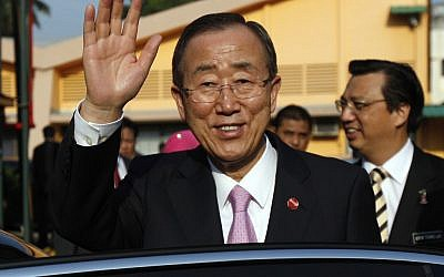 U.N. Secretary-General Ban Ki urged a cease-fire in Syria (photo credit:AP/Lai Seng Sin)