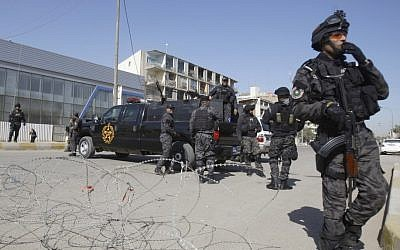 Illustrative: Iraqi security forces close a street leading to the heavily guarded Green Zone in Baghdad, Iraq. (AP)