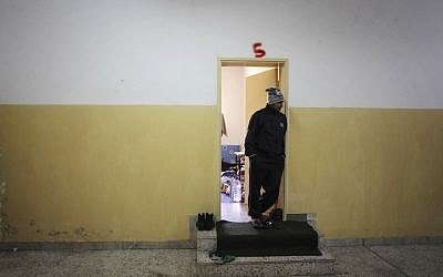 A prison in Gherian, Libya. (photo credit: AP/Manu Brabo)