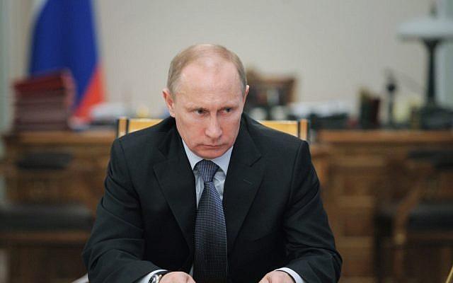 Russian President Vladimir Putin (photo credit: AP/RIA Novosti/Alexei Druzhinin/Government Press Service/File)