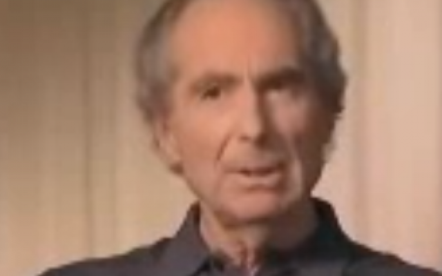 Philip Roth (photo credit: screen capture, YouTube)