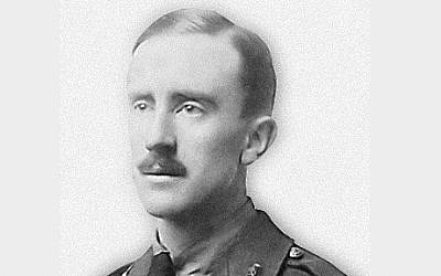 J.R.R. Tolkien in 1916 (photo credit: public domain)