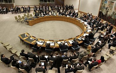 The United Nations Security Council (photo credit: AP/Seth Wenig)