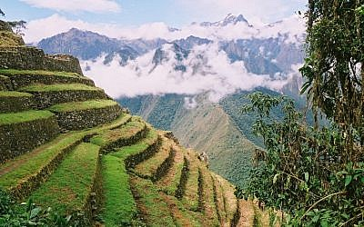 Ancient terraces from the Inca empire period in Peru. The Peruvian government is organizing bids on numerous projects, including tourism projects, of interest to Israeli companies (photo credit: Yossi Zamir/Flash90)