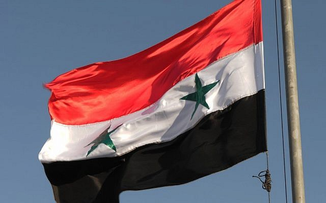 Syrian flag (photo credit: Hamad Almakt/Flash90)