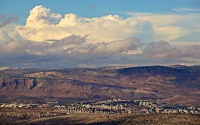 Western Galilee view, with the town of Karmiel in the foreground (photo credit: Doron Horowitz/Flash90)