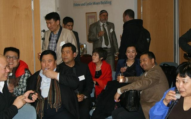 Members of a Chinese delegation on an economic mission to Israel in Tel Aviv, July 31, 2012 (Courtesy)