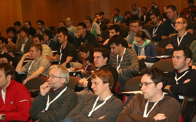 Students attend the Winter School on Cryptography at Bar Ilan University (Photo credit: Courtesy)