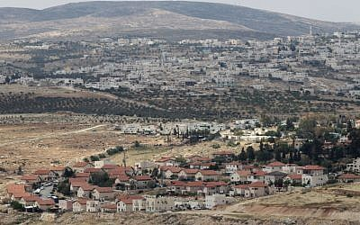 A new neighborhood in the settlement of Tekoa, south of Jerusalem (Nati Shohat/Flash90)