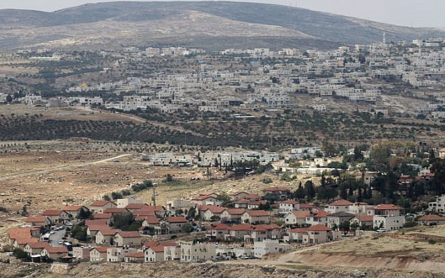 A new neighborhood in the settlement of Tekoa, south of Jerusalem (Nati Shohat/Flash90)