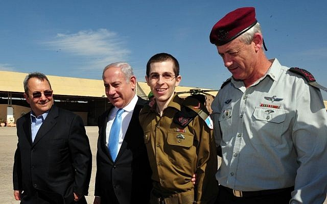 Gilad Shalit on the day of his release from Gaza (photo credit: Ariel Hermoni/Defense Ministry/Flash90)
