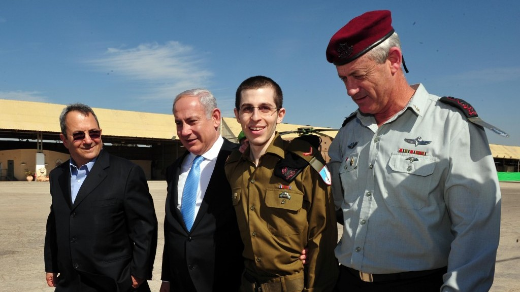 Gilad Shalit wears his army uniform on the day of his release from Gaza (photo credit: Ariel Hermoni/ Defense Ministry /Flash90)