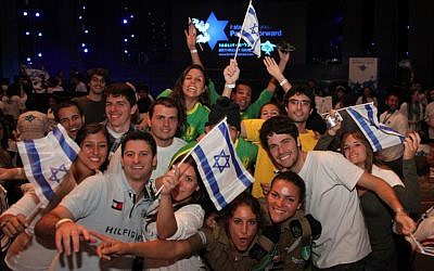 Jews from all over the world, including Israel, at a Birthright event in Jerusalem. (Photo credit: Marc Israel Sellem/Flash90)