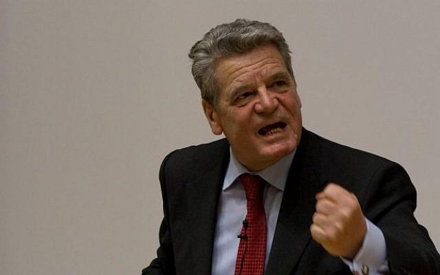 Germany's president, Joachim Gauck (photo credit: CC BY Sebastian Hillig, Flickr)