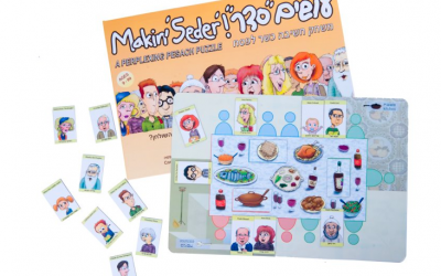 Makin' Seder at the table (Courtesy)
