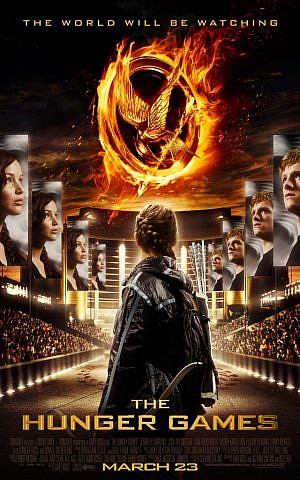 The Hunger Games poster (photo credit: Courtesy)