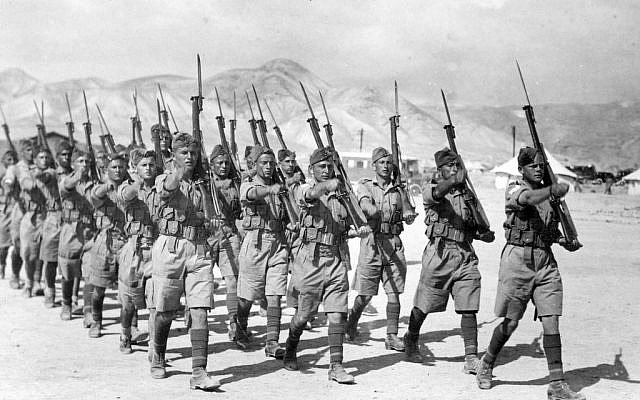Soldiers of the Jewish Brigade during WWII (Courtesy of Beit Hagdudim, Defense Ministry Museum Unit)