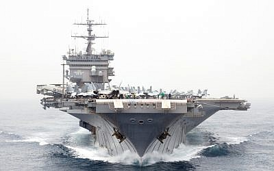 Illustrative photo of the USS Enterprise, a US Navy aircraft carrier that was deployed to the Persian Gulf in 2012, before being decommissioned at the end of the year. (Official US Navy Imagery/flickr)